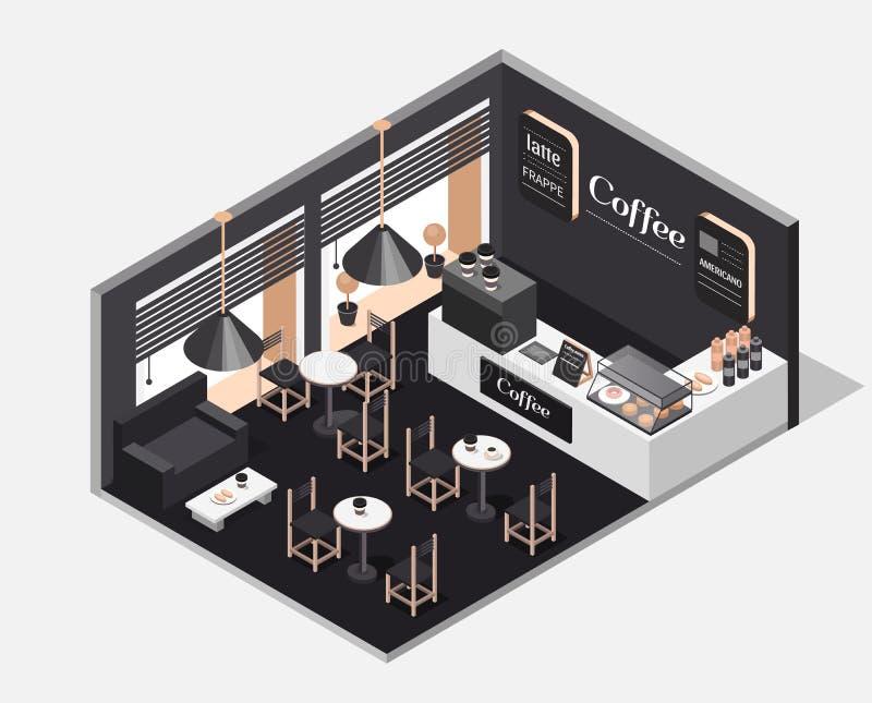 wnętrze kawowy sklep zdjęcia royalty free