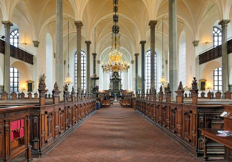 Wnętrze kościół Święta trójca w Kristianstad, Szwecja zdjęcie royalty free