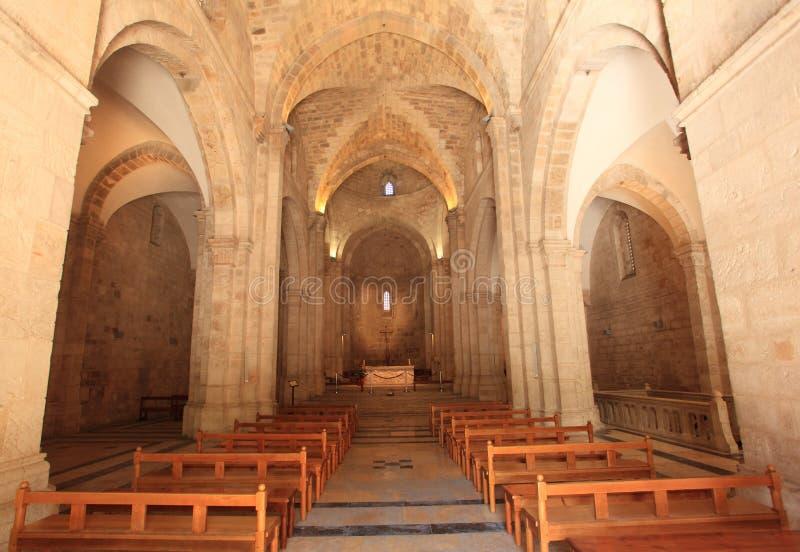 Wnętrze kościół St Anne, Jerozolima obrazy royalty free
