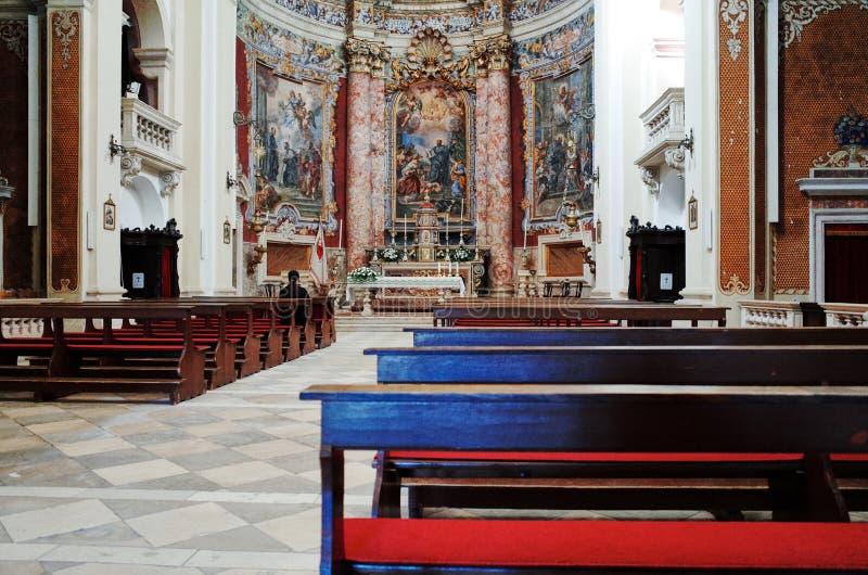 Wnętrze kościół St Ignatius obraz royalty free