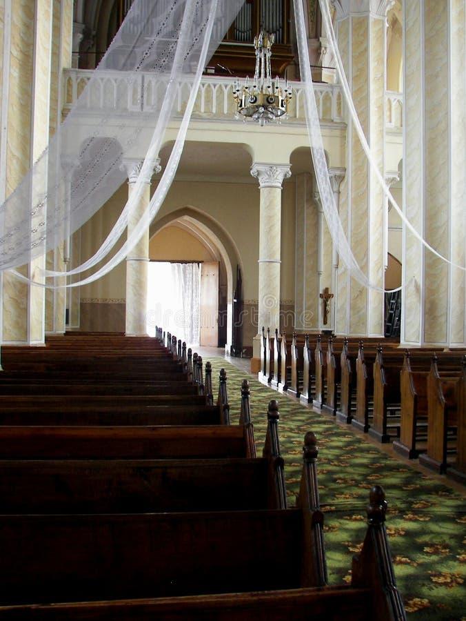 wnętrze kościoła obrazy stock