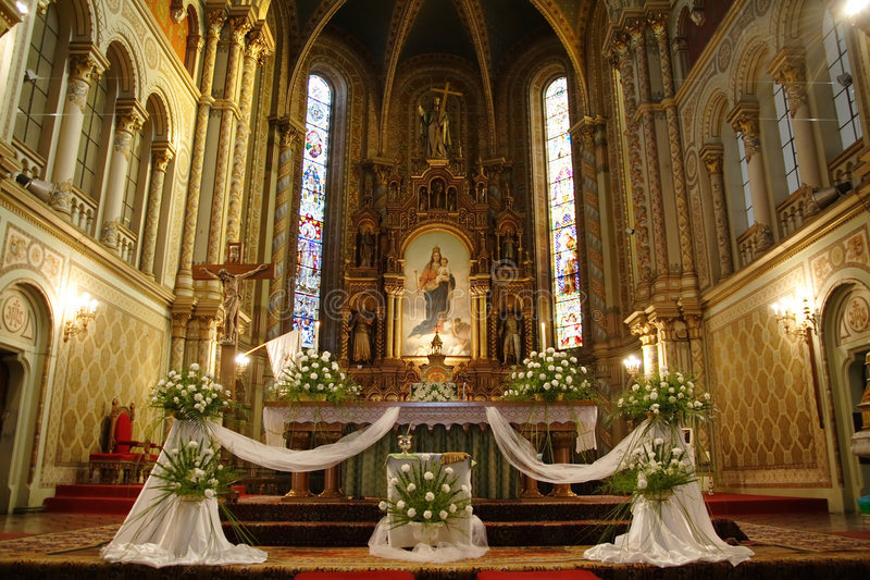 wnętrze kościoła zdjęcie royalty free