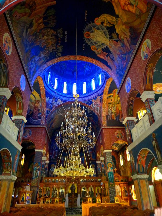 wnętrze kościoła obraz stock
