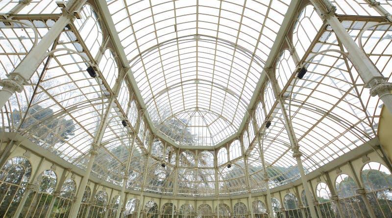 Wnętrze krystaliczny pałac w Madryt, Hiszpania obrazy royalty free