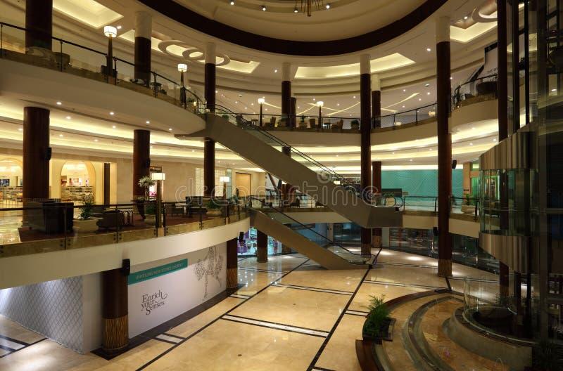 Wnętrze Lagoona centrum handlowe w Doha obrazy royalty free