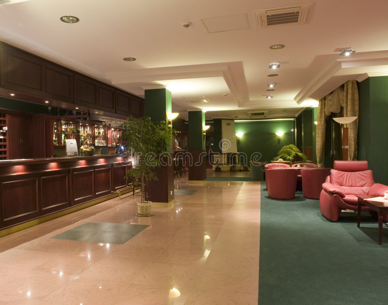 wnętrze lobby hotelu nowocześnie fotografia royalty free