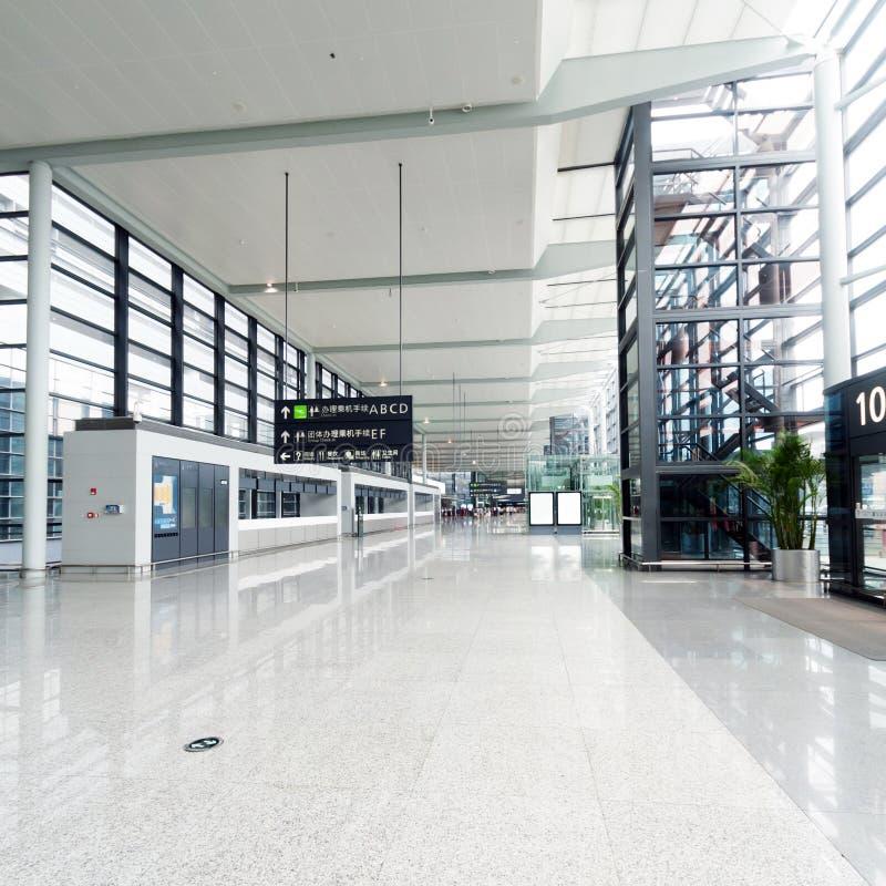 Wnętrze lotnisko fotografia stock