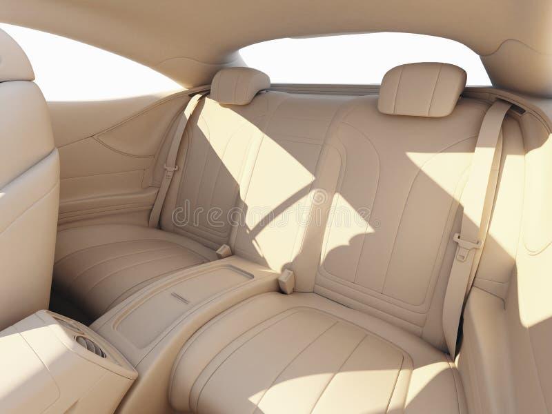 Wnętrze luksusowy samochód - glina odpłaca się ilustracja wektor