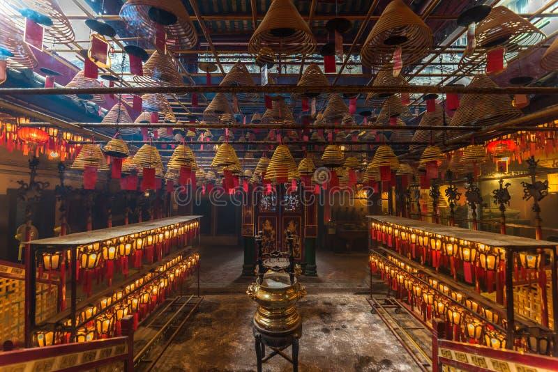 Wnętrze mężczyzna Mo świątynia w Hong Kong obraz royalty free