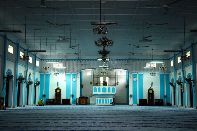 Wnętrze Masjid Jamek Dato Bentara Luar w Batu Pahat, Johor, Malezja obraz royalty free