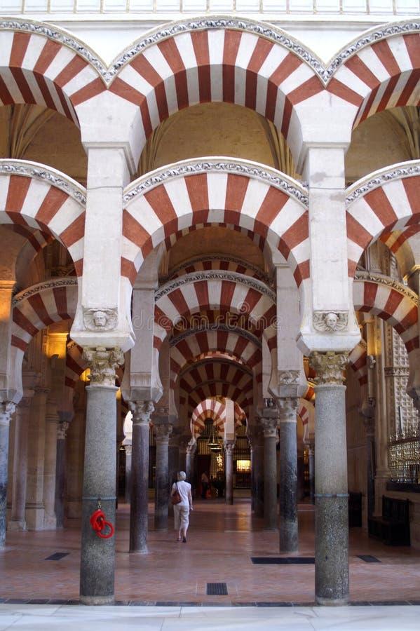 Wnętrze meczet w cordobie obraz stock