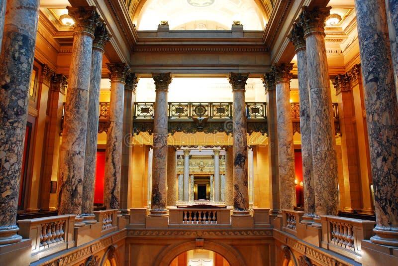 Wnętrze Minnestoa stanu Capitol budynek zdjęcie stock