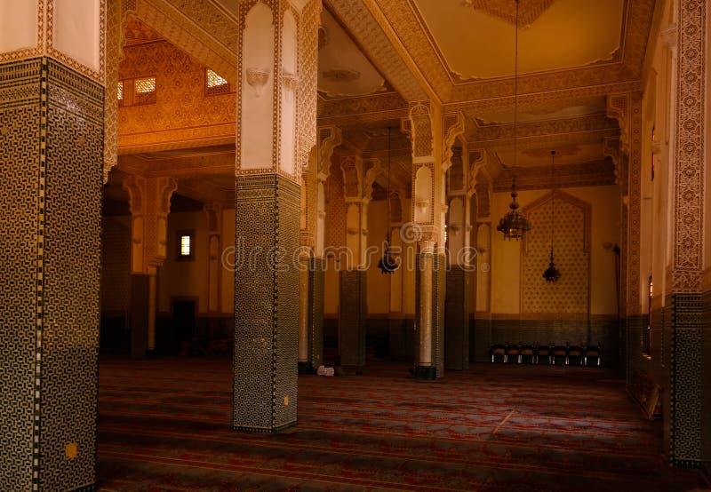 Wnętrze Niamey Uroczysty meczet w Niamey, Niger obraz royalty free