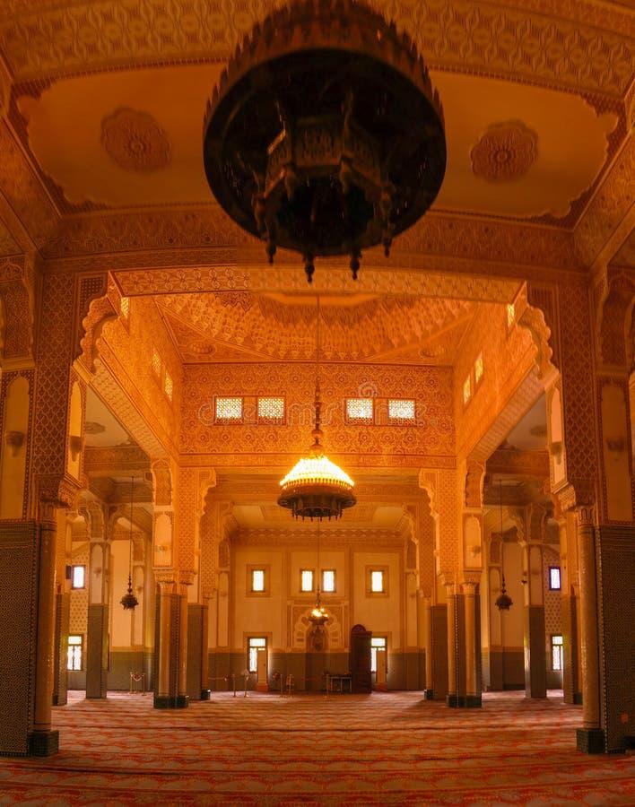Wnętrze Niamey Uroczysty meczet w Niamey, Niger zdjęcia royalty free