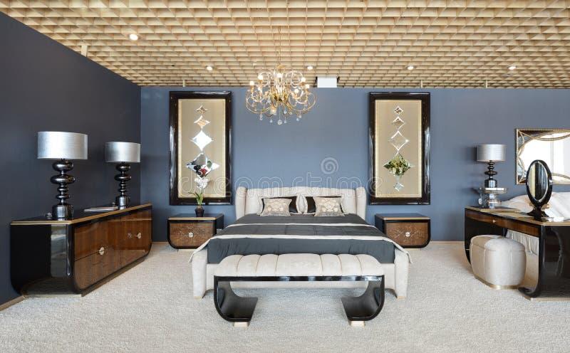 Nowożytny wnętrze. Sypialnia. obraz royalty free