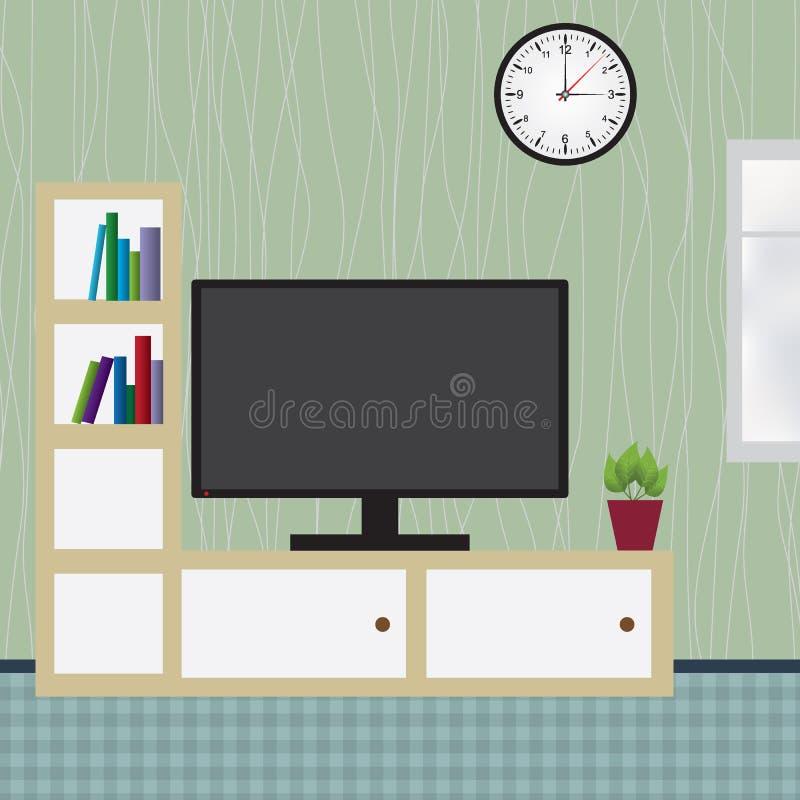 Wnętrze nowożytny mieszkanie ilustracji
