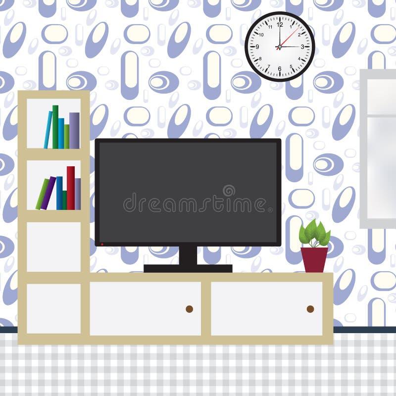 Wnętrze nowożytny mieszkanie ilustracja wektor
