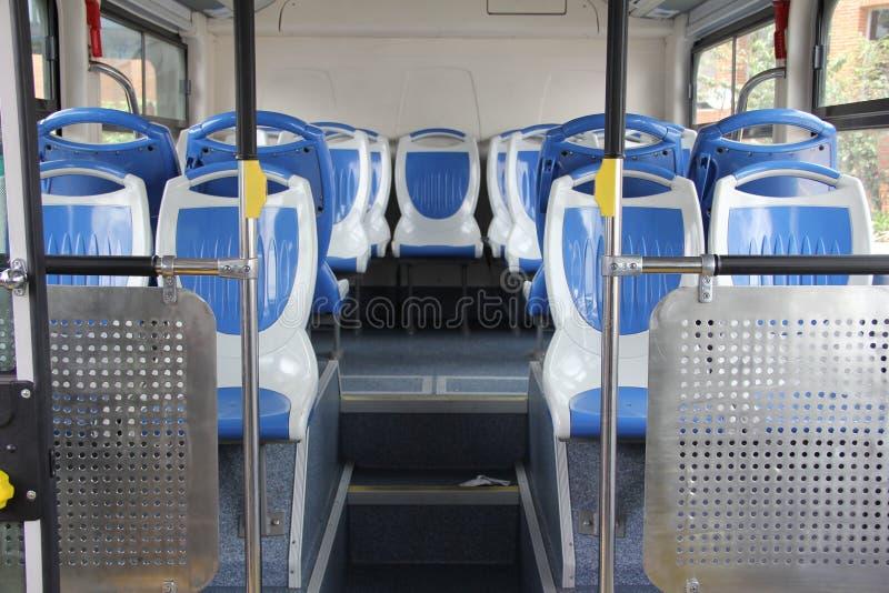 Wnętrze nowożytny pusty miasto autobus fotografia stock