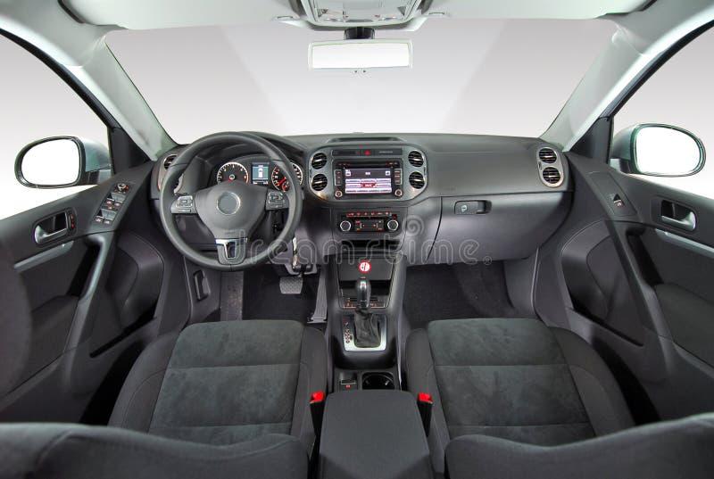 Wnętrze nowożytny samochód fotografia stock