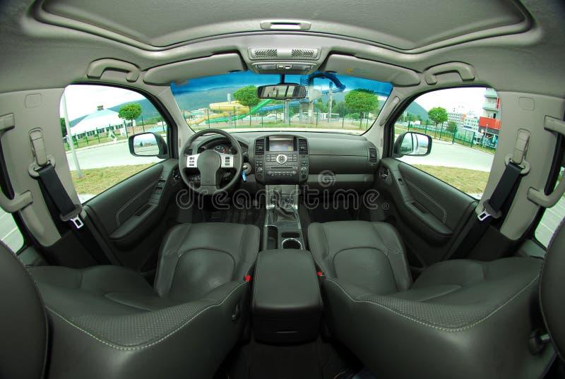 Wnętrze nowożytny samochód zdjęcia stock
