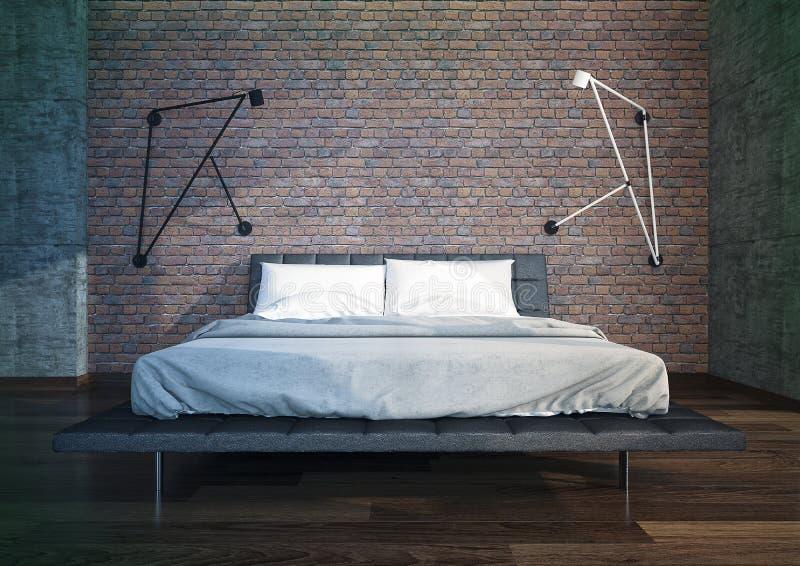 wnętrze nowoczesne sypialni obraz stock
