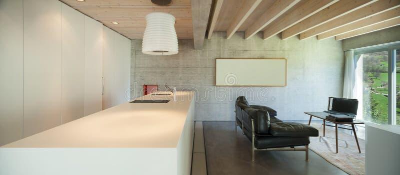 Wnętrze, odpierający wierzchołek kuchnia obraz stock