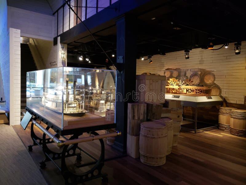 Wnętrze Oklahoma historii centrum Ameryka zdjęcie royalty free