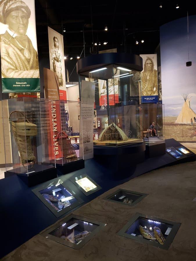 Wnętrze Oklahoma historii centrum widok Ameryka obrazy royalty free