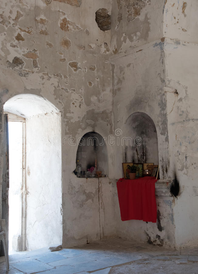 Wnętrze Ortodoksalny kościół święty Panteleimon obrazy stock