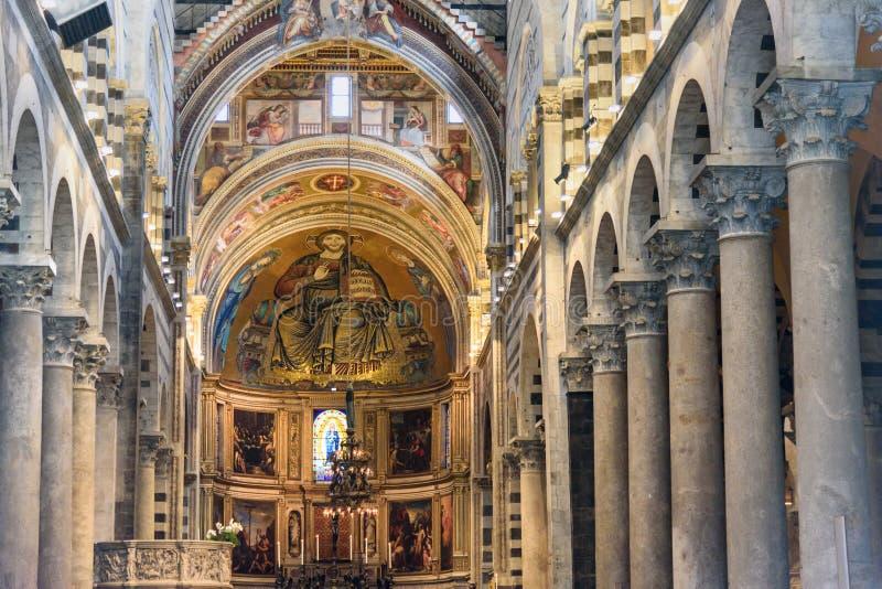 Wnętrze Pisa katedra w Pisa, Włochy fotografia royalty free