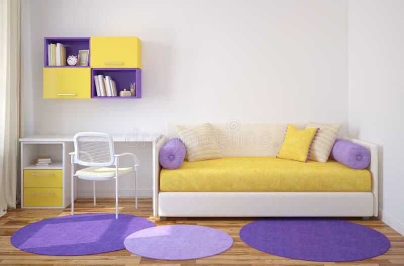 Wnętrze playroom. ilustracja wektor