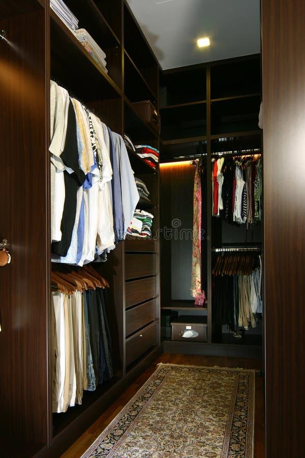 wnętrze projektu garderoby fotografia royalty free