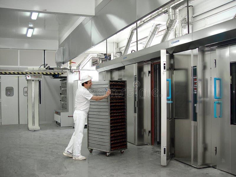 Wnętrze przemysłowy magazyn robić chlebowi 2 obrazy stock