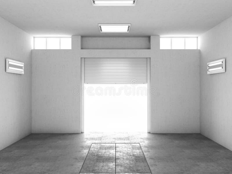 Wnętrze pusty garaż ilustracja 3 d ilustracja wektor