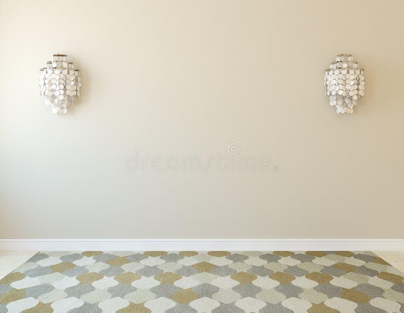 wnętrze pusty pokój royalty ilustracja