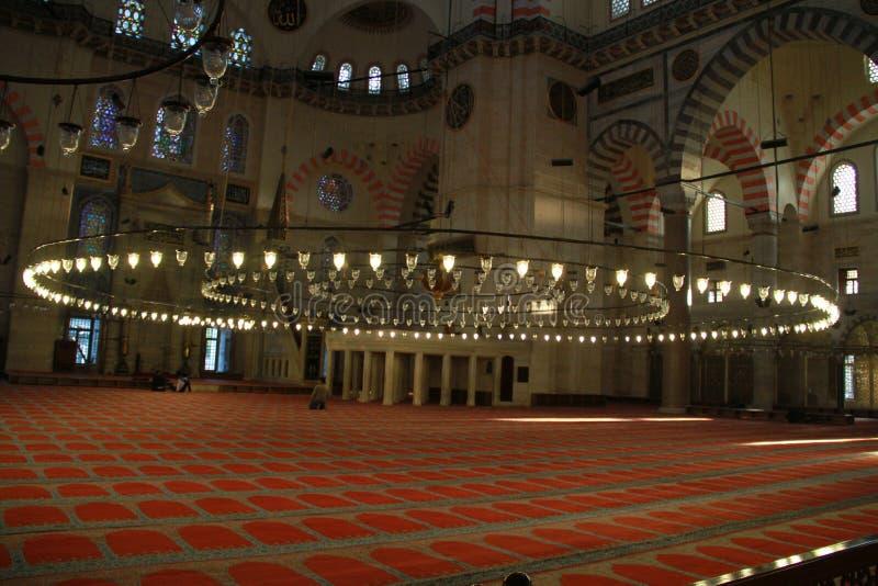 Wnętrze SÃ ¼ leymaniye meczet, Istanbuł, Turcja zdjęcie royalty free