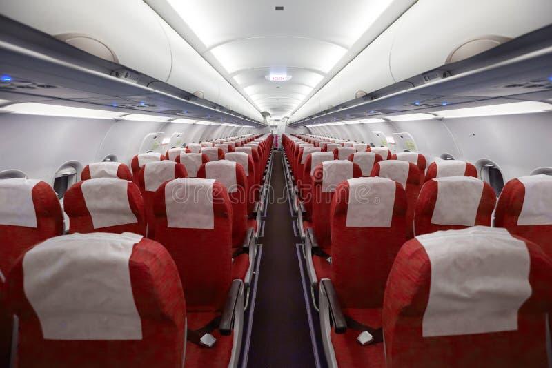 Wnętrze samolot zdjęcie royalty free