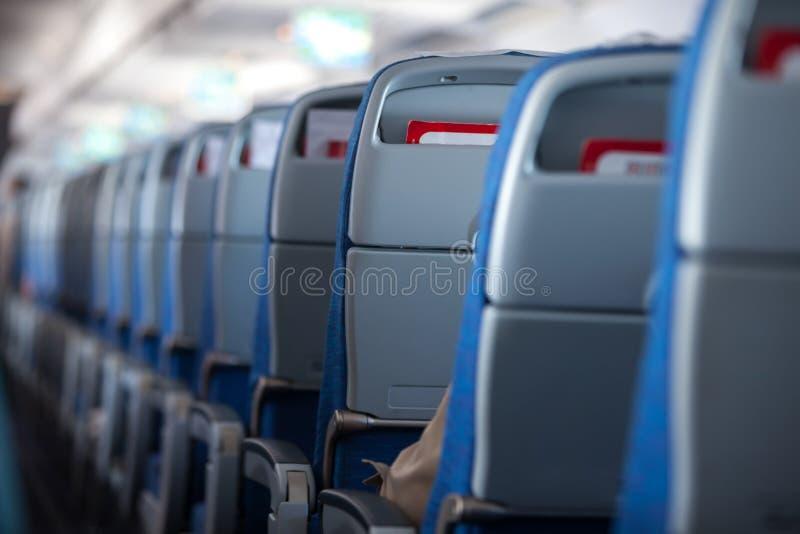 Wnętrze samolot zdjęcie stock