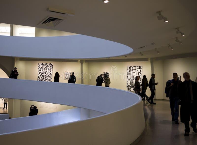 Wnętrze Solomon R. Guggenheim muzeum obrazy stock