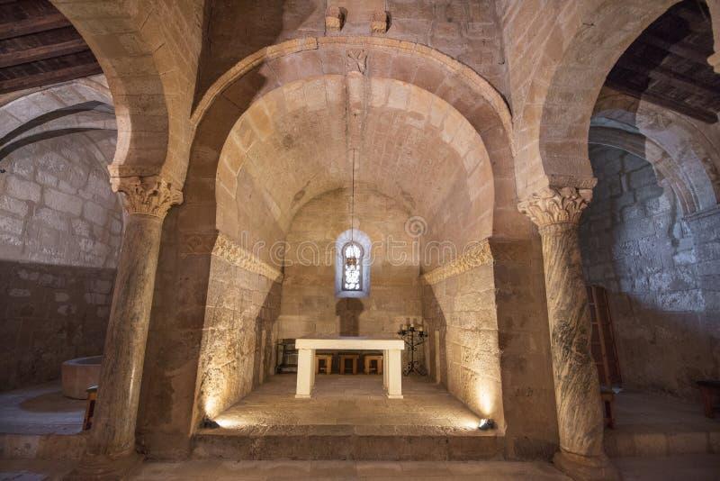 Wnętrze St Juan kościelny stary hiszpański kościół fotografia stock