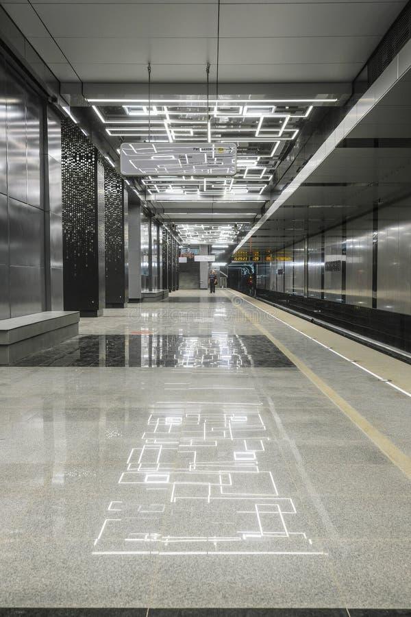 wnętrze stacja metru Govorovo w Moskwa fotografia royalty free