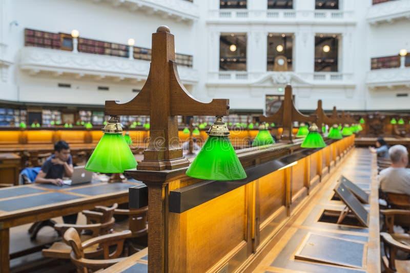 Wnętrze stan biblioteka Melbourne, Australia zdjęcie royalty free