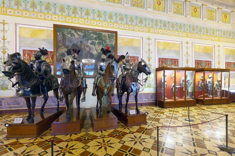 Wnętrze stanu erem. Świątobliwy Petersburg fotografia royalty free