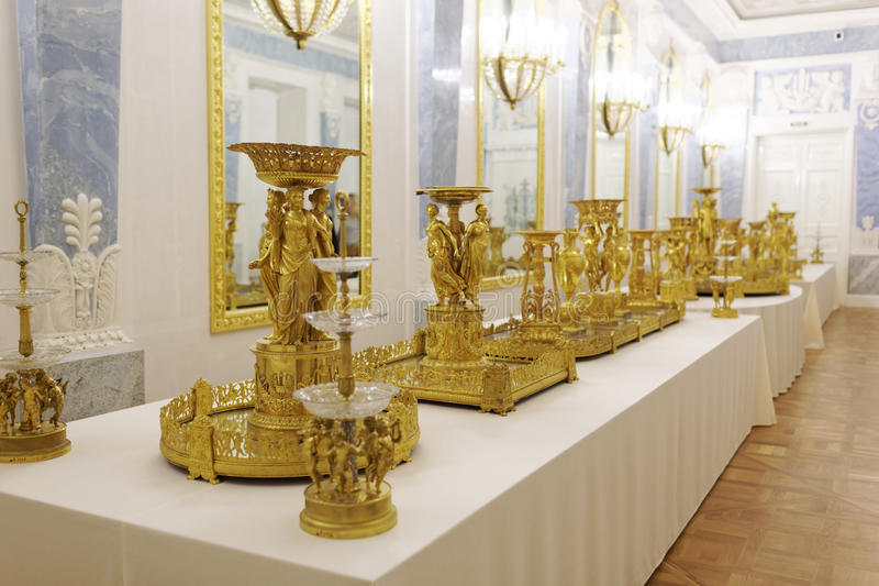 Wnętrze stanu eremu muzeum, St Petersburg, Rosja fotografia stock