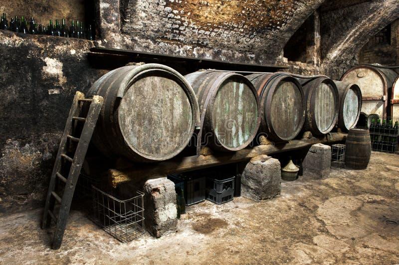 Wnętrze stary wino loch zdjęcia stock