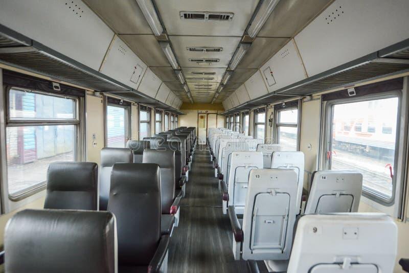 Wnętrze syberyjski pociąg ekspresowy, łączy Moskwa z Rosyjskim Daleki Wschód, kończy w Vladivostok fotografia royalty free