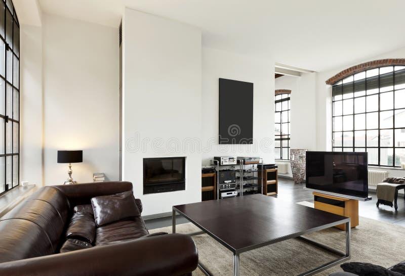 wnętrze, widok żywy pokój fotografia royalty free