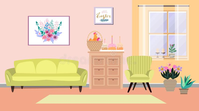 Wnętrze wielkanocne 1 ilustracja wektor