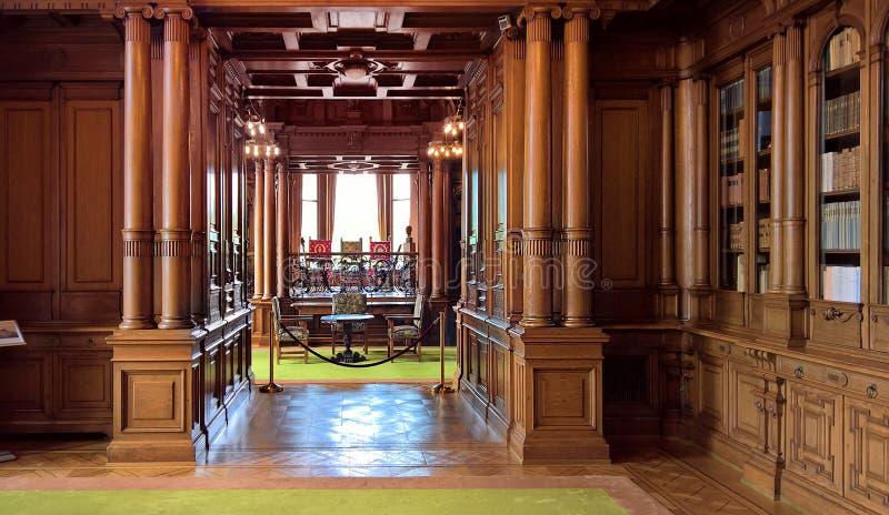 Wnętrze willa Hugel zdjęcia stock