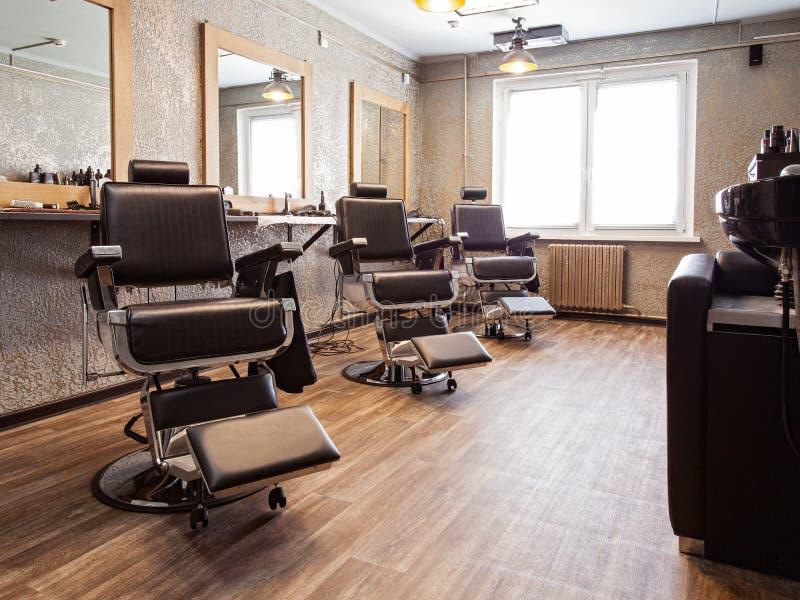 Wnętrze zakład fryzjerski fotografia stock